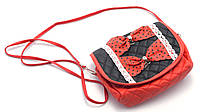 Аккуратная красная детская сумочка с бантиками Б/Н art. 2312, фото 1