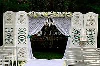 Цветочная арка для росписи, свадебные арки из цветов,  арка для выездной церемонии