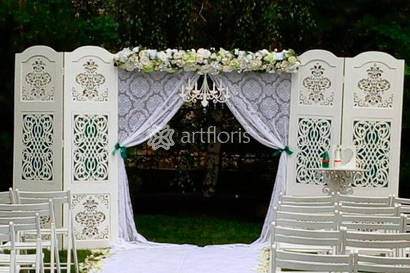 ba25c881ecf13 Цветочная арка для росписи, свадебные арки из цветов, арка для выездной  церемонии - Артфлорис