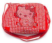 Красная детская сумочка Hello Kitty с пайетками Б/Н art. 150, фото 1