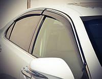 Дефлектори вікон (вітровики) Лексус ES 350 2007-2012 З Хром Молдингомом, фото 1