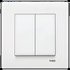 Выключатель 2 -х клавишный KARRE белый