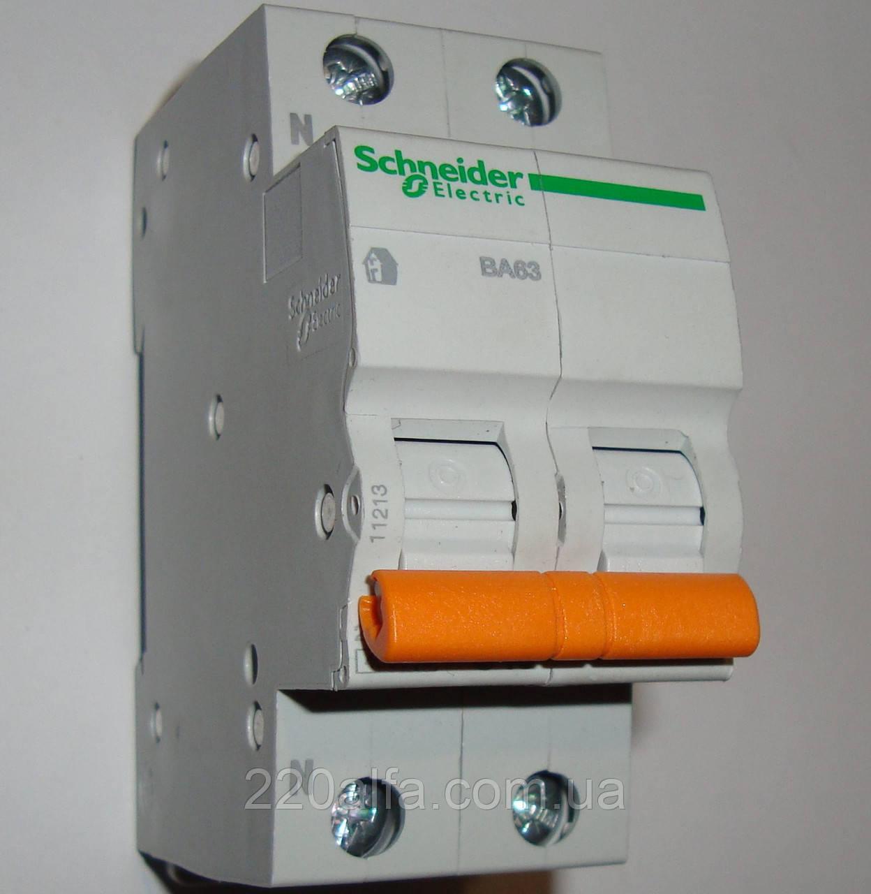Автоматический выключатель Schneider Electric ВА63 1П+Н 25A C