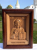 Икона деревянная резная Иисуса Христа (Господь Вседержитель)