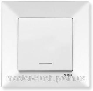 Выключатель одноклавишный с подсветкой Viko Meridian