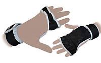 Перчатки (накладки) для поднятия веса ZEL ZG-3616 (PVC, PL, эластан, р-р S-XXL)