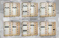 Варианты наполнения шкаф-купе 2900
