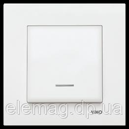 Выключатель с подсветкой KARRE белый