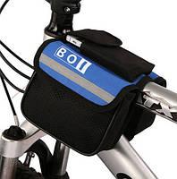 Сумка для велосипеда (велосумка) подрамная, синяя