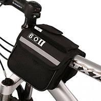 Сумка для велосипеда (велосумка) подрамная, черная