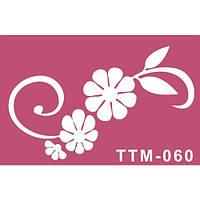 """Цветочный трафарет для био-тату """"Весенний праздник"""""""