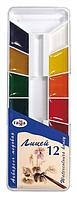 Краски акварельные Гамма Лицей 12 цветов в пластиковой упаковке (212064)