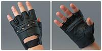 Перчатки для атлетики, турника кожаные без пальцев. Размер S