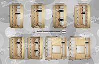 Варианты наполнения угловой шкаф-купе 1000-1200