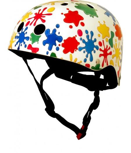 Шлем детский Kiddi Moto цветные кляксы