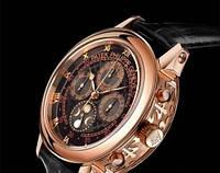 Механические  мужские часы с автоподзаводом  Patek Philippe Sky Moon Tourbillon Gold черные