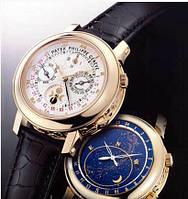 Механические  мужские часы  Patek Philippe Sky Moon Tourbillon Gold белые