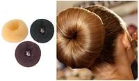 Бублик для волос.Коричневый,крупный