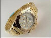 Часы мужские Rolex кварцевые белый циферблат