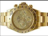 Часы мужские Rolex кварцевые золотистые