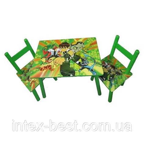 Детский столик со стульчиками «Ben 10» Bambi D 11553, фото 2