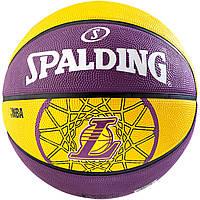 Мяч баскетбольний Spalding BASKET LA LAKERS