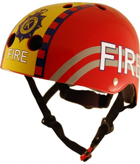 Шлем детский Kiddi Moto пожарный, красный