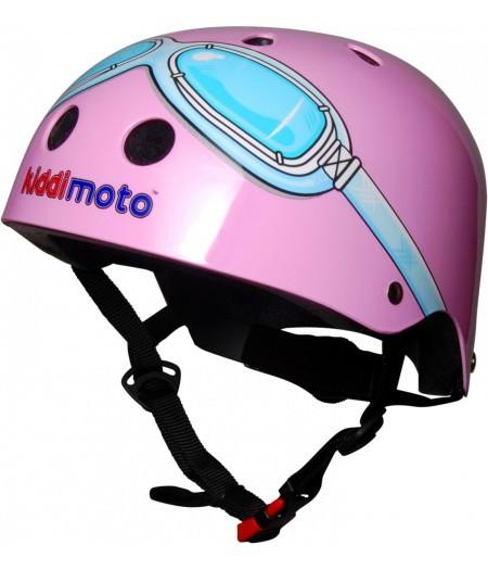 Шлем детский Kiddi Moto очки пилота, розовый