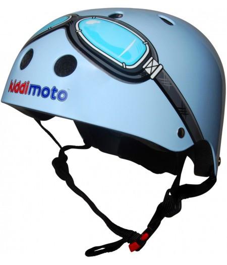 Шлем детский Kiddi Moto очки пилота синий