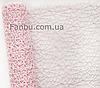 Ажурная сетка бледно розовая на метраж, лист 0,5*0,5 м