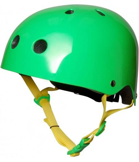 Шлем детский Kiddi Moto неоновый зелёный