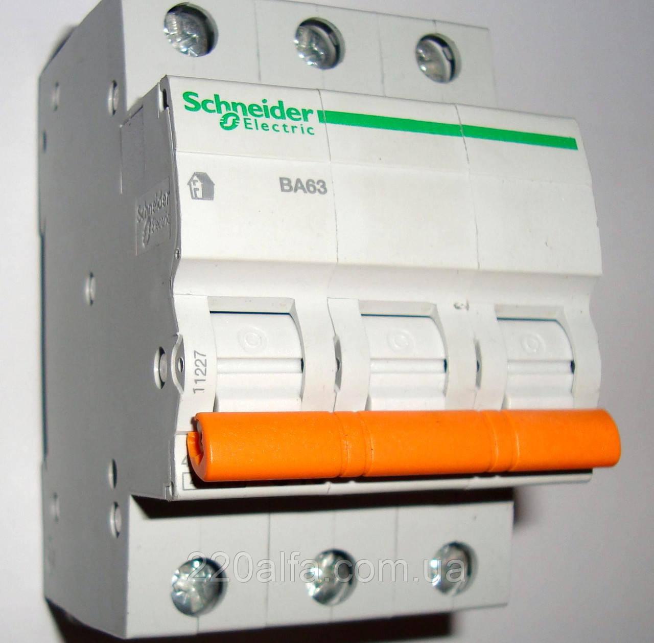 Автоматический выключатель Schneider Electric ВА63 3П 16A C 3х 16