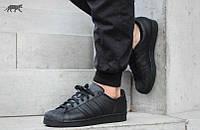 Мужские кроссовки Adidas Superstar All Black, фото 1