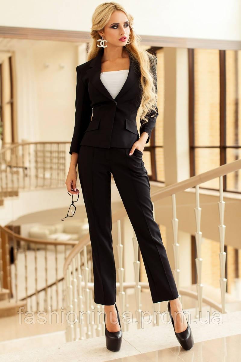 Деловой черный костюм женский с доставкой