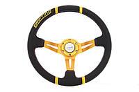 Руль спортивный ProRacing d350, чёрная кожа с желтым