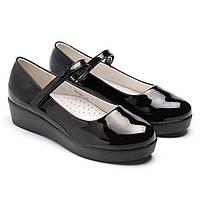 Лаковые туфли Фламинго, на танкетке, для школы, размер 33-38