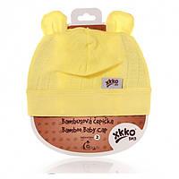 Шапка детска лимонная бамбуковая ХККО