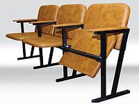 Кресло для актового зала мягкое (4 местное) 2050х530х830 мм (кож.зам.)