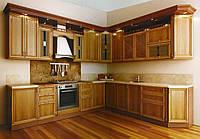 Кухня из массива дерева 012