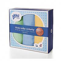 Пеленки  хлопковые органическые муслиновые XKKO 90х100 3 шт. Разноцветные для мальчика