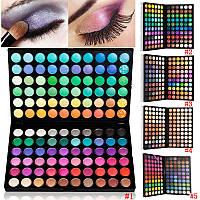 Палитра теней профессиональная МАС 120 цветов (теплые, яркие, пастельные оттенки) реплика