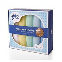 Пеленки хлопковые органические муслиновые  XKKO 70х70 5 шт. Разноцветные для мальчика, фото 1