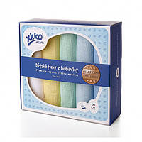 Пеленки детские хлопковые органические муслиновые  XKKO 70х70 5 шт. Разноцветные для мальчика