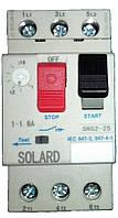 Автомат защиты двигателя SNS2-25 1-1,6A Solard, фото 1