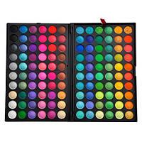 Профессиональная палитра теней МАС 120 цветов №1,2,3,4 теплые,яркие,пастельные оттенки Холодная