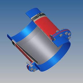 Тканевый компенсатор тип КТ 3,02 переходное крепление, фото 2