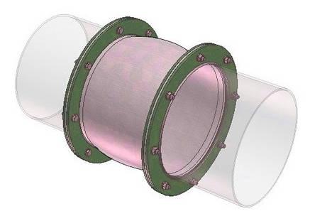 Тканевый компенсатор тип КТ 2,02 фланцевый с волной, фото 2