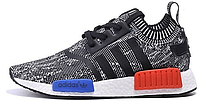 Мужские кроссовки Adidas Originals NMD Runner Black/White (Адидас НМД) черные с белым
