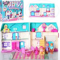 Яркий и стильный игровой кукольный домик 1205CD, музыка, световые эффекты