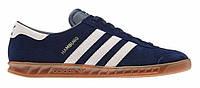 "Кроссовки Adidas Hamburg ""Blue White"" - ""Синие Белые"" (Копия ААА+)"